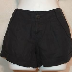 Juicy Couture pleated black shorts